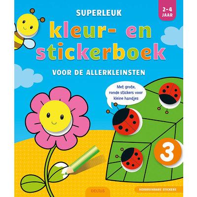 Deltas Superleuk kleur- en stickerboek voor de allerkleinsten (2-4 jaar)