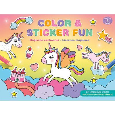 Deltas Color en Stickerfun - magische eenhoorns