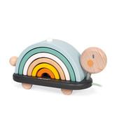 Janod Houten speelgoed - Schildpad regenboog