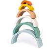 Janod Houten speelgoed - Schildpad regenboog - Sweet cocoon
