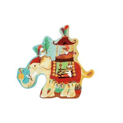 Scratch Contour puzzel - Olifant