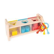 Janod Houten speelgoed - vormensorteerder met sleutels - educatief
