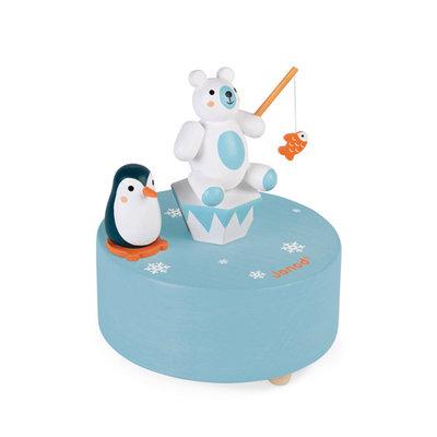 Janod Muziekdoosje - Pinguin