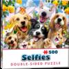 TFF Dubbelzijdige puzzel - selfie huisdieren, 500 stuks in spiegelbeeld
