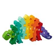 Lanka Kade Cijfer houten puzzel - 1 tot 10 dinosaurus (10 stuks)