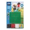 Plus-Plus Mini basic - boerderij met bouwplaat - 64 stuks
