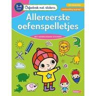 Deltas Oefenboek met stickers - allereerste oefenspelletjes (3-4 jaar)