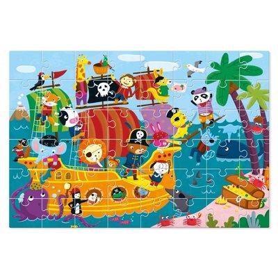 Ludattica Giant puzzel - de Piratenboot