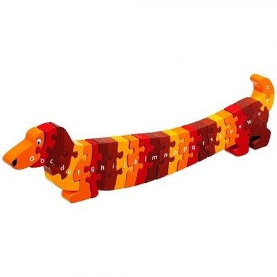 Lanka Kade Alfabet houten puzzel -hond Dash (26 stuks)