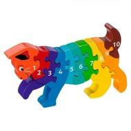 Lanka Kade Cijfer houten puzzel - 1 tot 10 Kat (10 stuks)