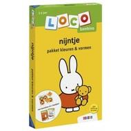 Loco Nijntje pakket - basisdoos en 2 boekjes - kleuren en vormen  (bambino)