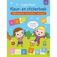 Deltas Superleuk kleur- en stickerboek - allereerste woorden vormen (5-6 j.)
