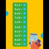 Deltas Oefenkaarten - de tafels van vermenigvuldiging (7-8 j.) 2de leerjaar