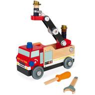 Janod Houten speelgoed - Brico'kids - Brandweerauto