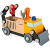Janod Houten speelgoed - Brico'kids - Vrachtwagen wegwerker