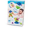 Lalaboom Badspeelgoed - plonsbal en educatieve kralen (12 stuks)