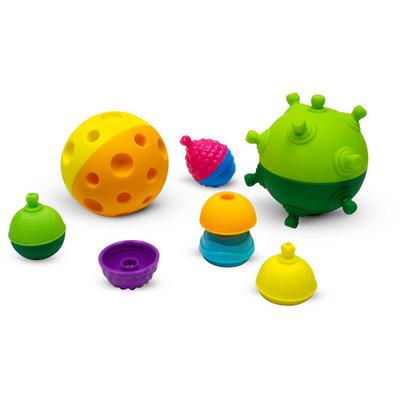 Lalaboom Sensorische ballen en educatieve kralen ( 12 stuks )