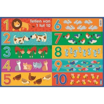 Deltas Educatieve onderlegger - tellen van 1 tot 10  (preschool)