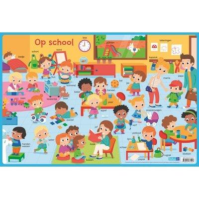 Deltas Educatieve onderlegger - op school (preschool)