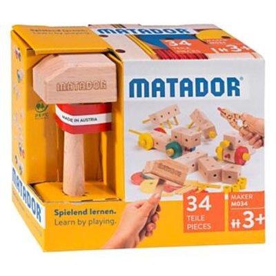 Matador Houten constructieset  - Maker - 34 delig