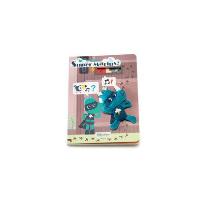 Lilliputiens Kartonnen doolhof/speurboekje - met een stoffen Marius, de superheld