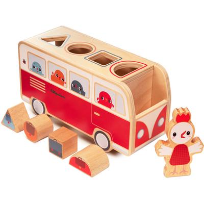 Lilliputiens Houten vormensorteerder - Paulette bus