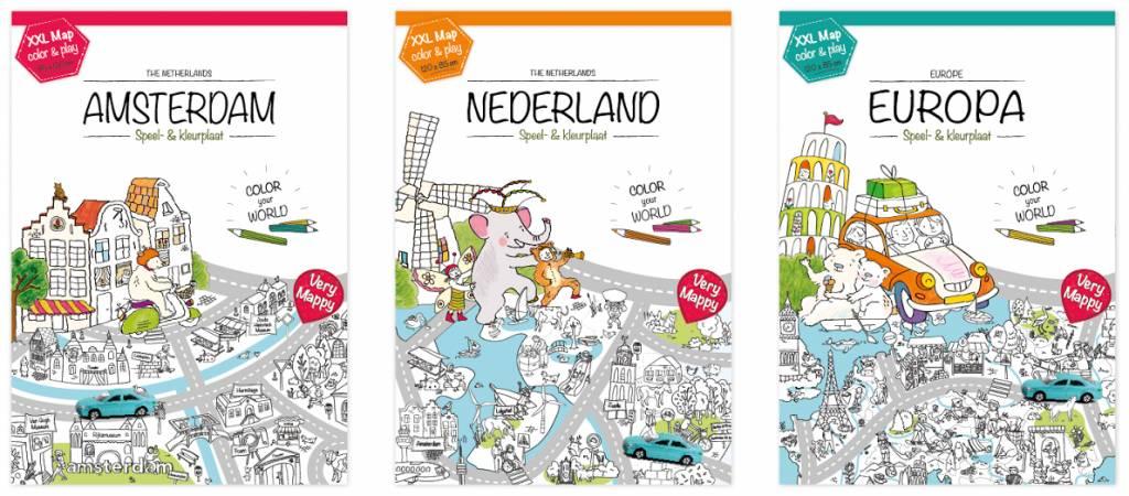 Kleurplaten Xxl.Xxl Kleurplaat Van Amsterdam De Hoofdstad Educatief Speelgoed