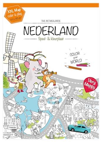 Kleurplaten Mijn Huis.Very Mappy Nederland Xxl Kleurplaat Educatief Speelgoed