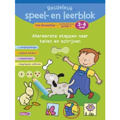 Deltas Reuzeleuk speel- en leerblok allereerste stappen naar Tellen en schrijven (3-4 j.)