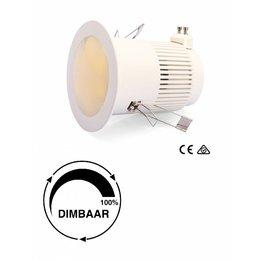 LED downlight 8W incl aansluitsnoer 3mtr (warm wit)