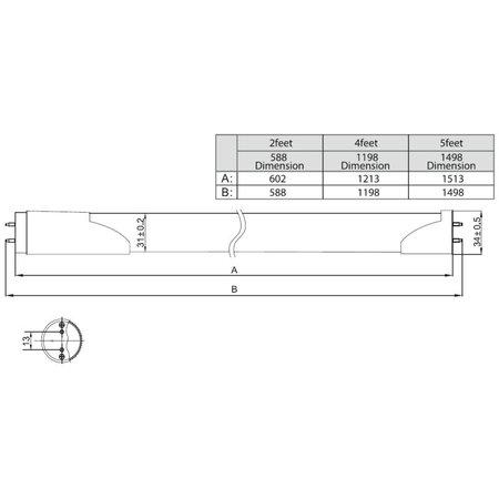 LED TL buis met sensor 9W - 60cm - T8 (30-100)
