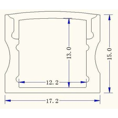 LED profiel 1715 incl afdekking (2 mtr)