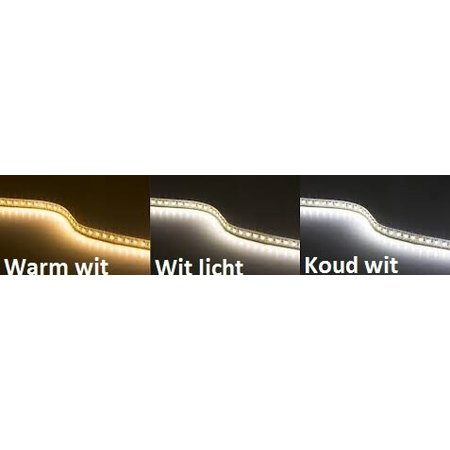 Koud wit LED strip 5 mtr - Waterproof