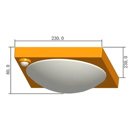 LED plafonniere met bewegingsmelder - type 70AE met accu