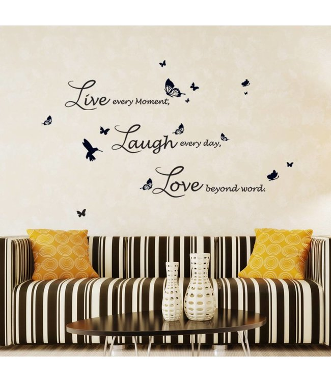 Live Laugh Love - Lucida | Muursticker voor in de huiskamer