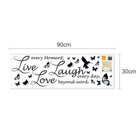 Live Laugh Love - Lucida | Muursticker voor in de huiskamer
