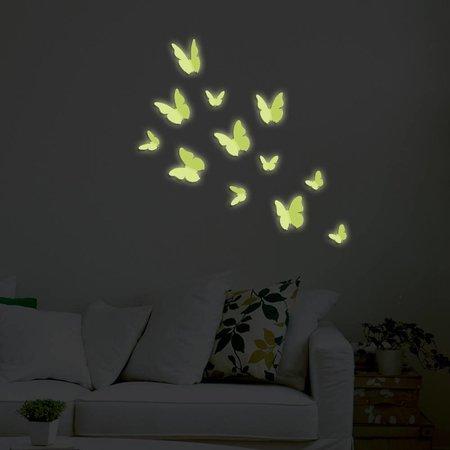 3D Glow-in-the-dark Vlinders