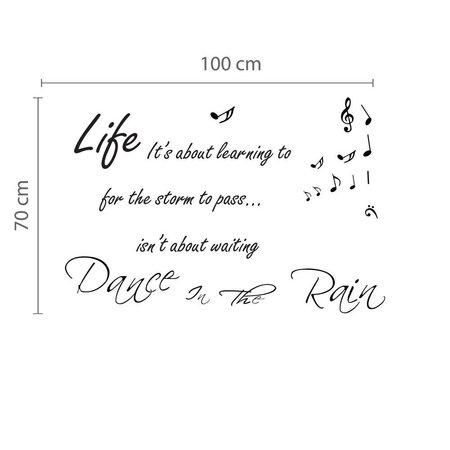 Dance In The Rain - Tekst