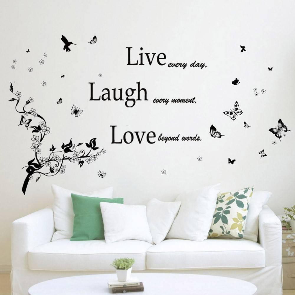 COMBI: Klassieke Live Laugh Love + Bladeren