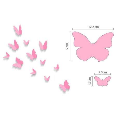 COMBI: Roze aap met 3D vlinders