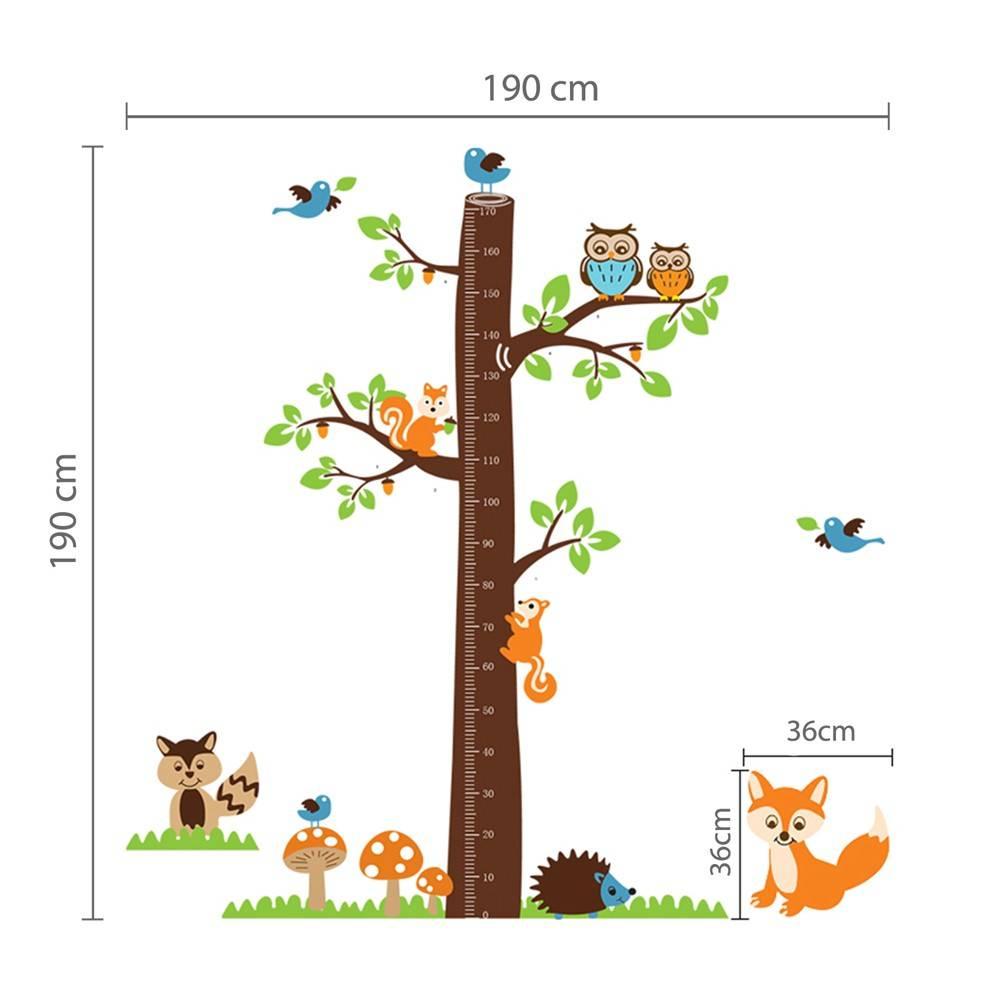 Boom met vos lengtemeter