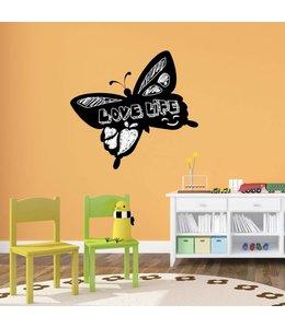 Muursticker Krijtbord Vlinder