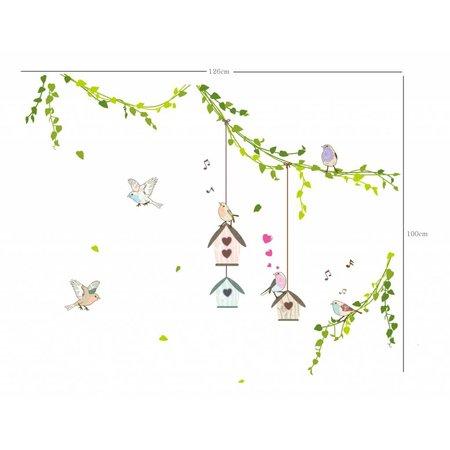 Vogeltjes met huisje