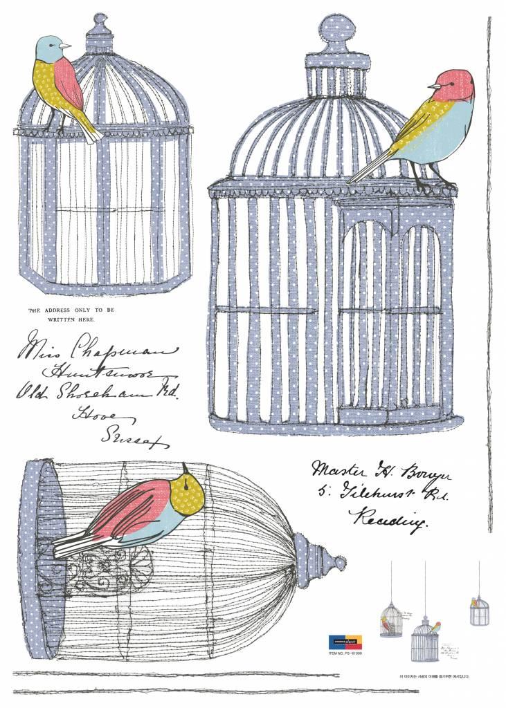 Brocante vogelkooitjes XL