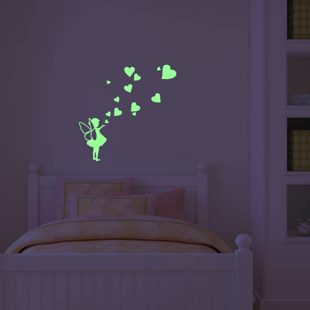 Muursticker Glow-in-the-dark elfje