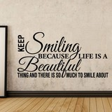 Muursticker Keep smiling - tekst