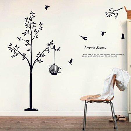 Vogelkooi muursticker met tekst