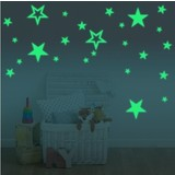 Muurstickers glow in the dark sterren