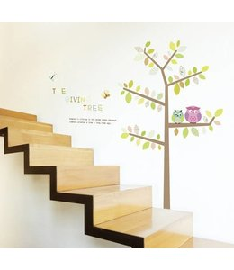 Muursticcker boom The giving tree XL
