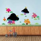 Muursticker krijtbord paddenstoelen